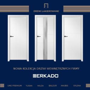 Promocja NOWOŚĆ W OFERCIE -  drzwi lakierowane firmy ERKADO